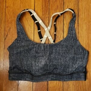 Lululemon Energy Bra Size 4 6 teal grey brown